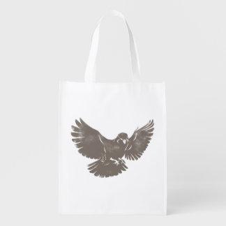 Vintage Flying Bird Reusable Grocery Bag