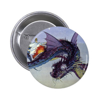 Vintage Flying Dragon Mythical Creature Pins
