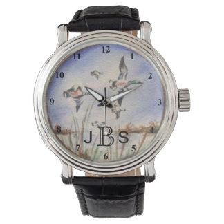 Vintage Flying Ducks | Masculine Monogram Wrist Watches