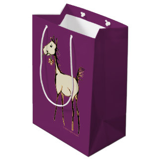 Vintage Foal with Flower Medium Gift Bag