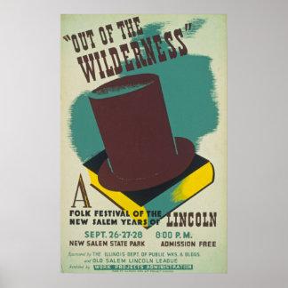 Vintage Folk Festival Poster