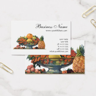 Vintage Food, Assorted Fruit in a Bowl Business Card