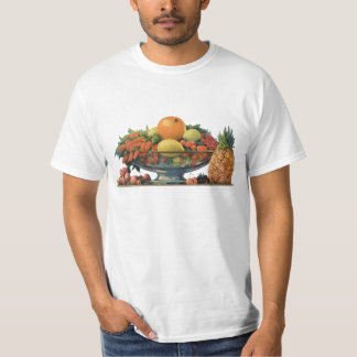 Vintage Food, Assorted Fruit in a Bowl T-Shirt