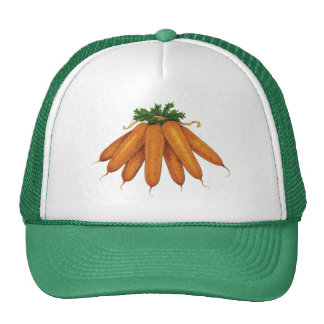 Vintage Food, Bunch of Organic Carrots Vegetables Trucker Hat