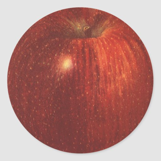 Vintage Food Fruit, Organic Red Delicious Apple Sticker