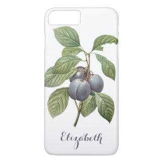 Vintage Food Fruit, Purple Garden Plums by Redoute iPhone 7 Plus Case