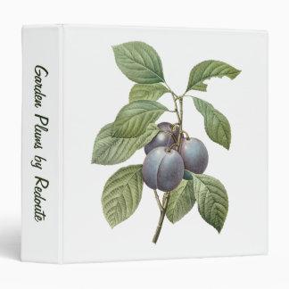 Vintage Food Fruit, Purple Garden Plums by Redoute Vinyl Binder