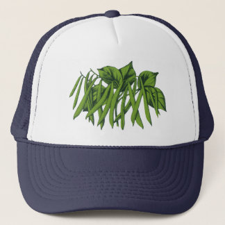 Vintage Food, Organic Green Beans Vegetables Trucker Hat