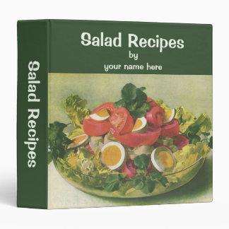 Vintage Food, Organic Mixed Green Mesclun Salad 3 Ring Binder