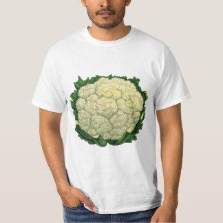 Vintage Food Vegetables Veggies Cauliflower T-Shirt