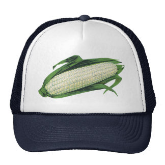 Vintage Food Vegetables White Corn on the Cob Trucker Hat