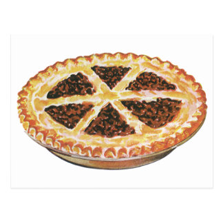 Vintage Foods Dessert, Fresh Baked Pecan Pie Postcard