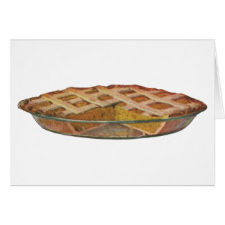 Vintage Foods, Dessert, Thanksgiving Pumpkin Pie Card