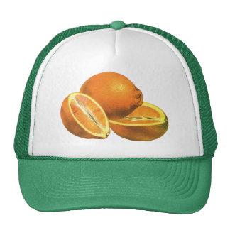 Vintage Foods, Fruit Organic Fresh Healthy Oranges Trucker Hat