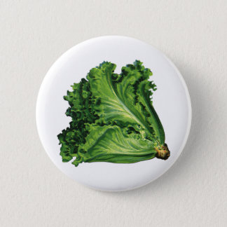 Vintage Foods, Green Leaf Lettuce Vegetables 2 Inch Round Button
