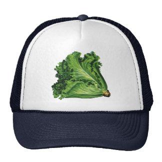Vintage Foods, Green Leaf Lettuce Vegetables Trucker Hat