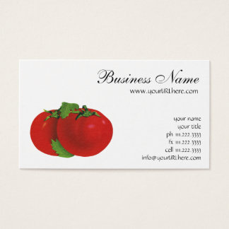 Vintage Foods, Organic Red Ripe Heirloom Tomato Business Card