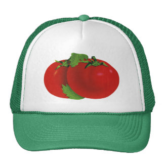Vintage Foods, Vegetables, Organic Red Ripe Tomato Trucker Hat