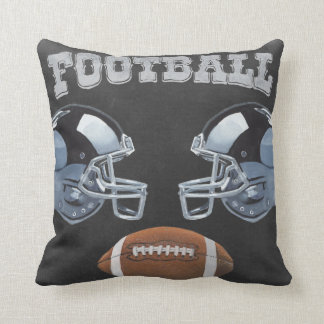 Vintage Football Chalkboard Design Throw Pillow