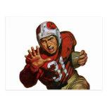 Vintage Football Player; Running Back Number 31 Postcards