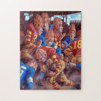 Vintage Football Players 11x14 Puzzle w/ Gift Box