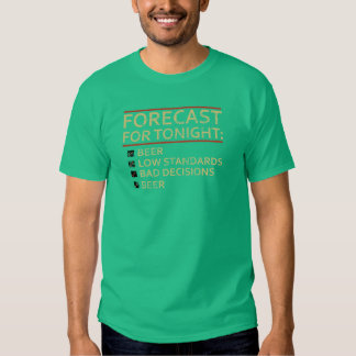 Vintage Forecast For Tonight: Beer, Low Standards Shirts