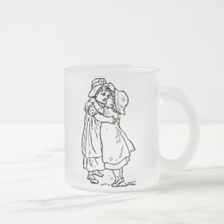 Vintage Forever Friends Frosted Glass Mug
