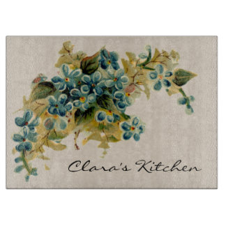 Vintage Forget-Me-Nots Custom Cutting Board