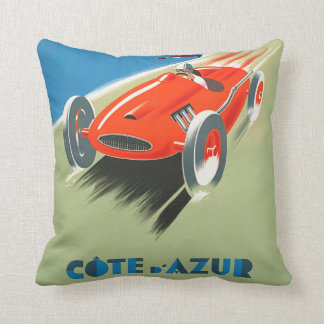 Vintage Formula One Racing Poster Art Throw Pillow