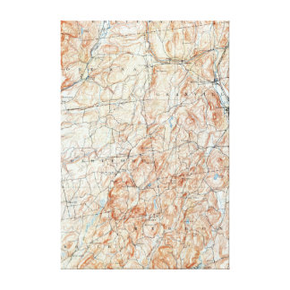 Vintage Fort Ann New York Topographical Map Canvas Print