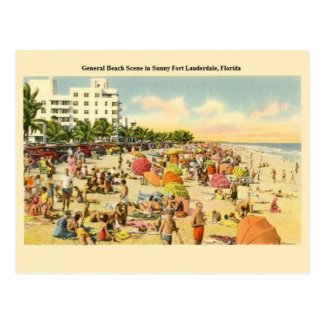 Vintage Fort Lauderdale Florida Beach Post Card