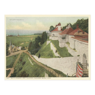Vintage Fort Mackinac, Mackinac Island Michigan Postcard