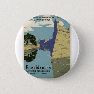 Vintage Fort Marion 2 Inch Round Button
