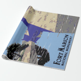 Vintage Fort Marion National Monument St Augustine Wrapping Paper