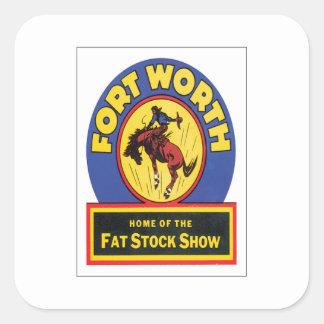 Vintage Fort Worth ,Texas Square Sticker