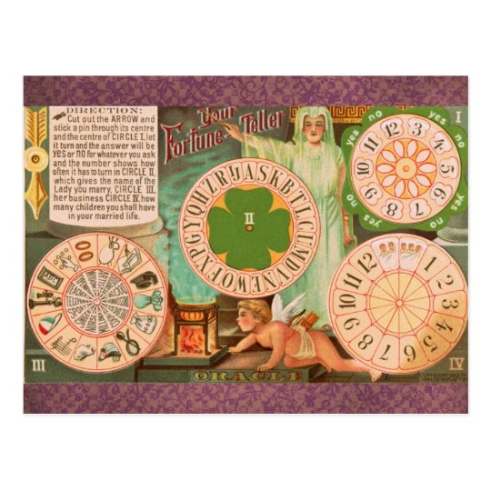 Vintage Fortune Telling Game Card