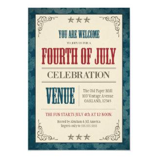 Vintage Fourth of July Celebration Card