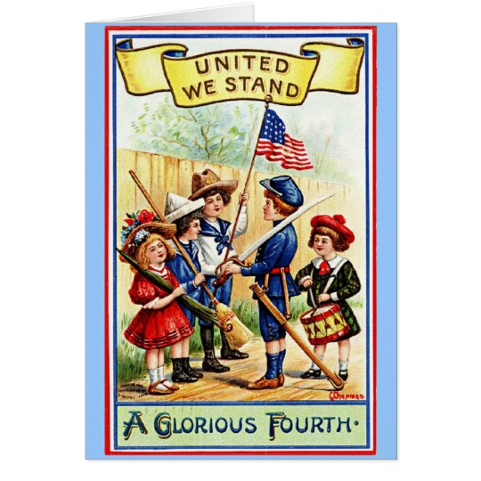 Vintage Fourth of July Notecard