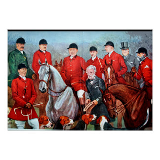 Vintage Fox Hunting Poster