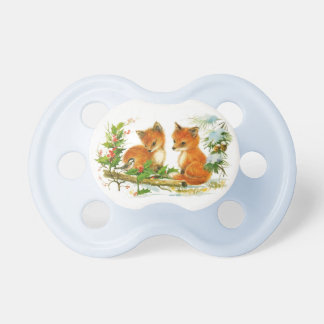 Vintage Foxes Pacifier