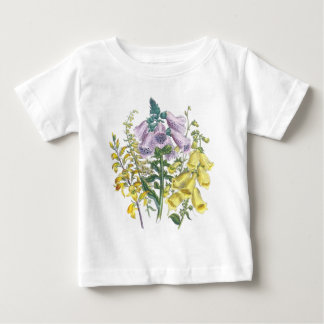 Vintage Foxglove Illustration Baby T-Shirt
