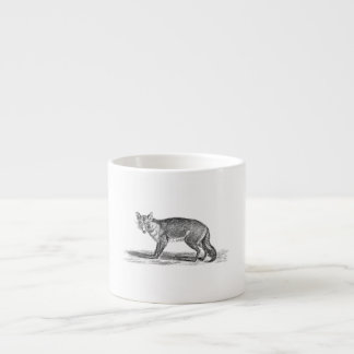 Vintage Foxy Fox Illustration - 1800's Foxes Espresso Cup