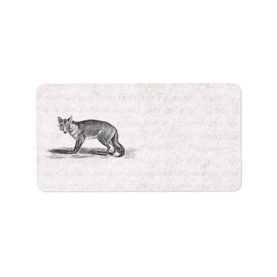 Vintage Foxy Fox Illustration -1800's Foxes Label
