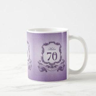 Vintage Frame 70th Birthday Celebration Mug