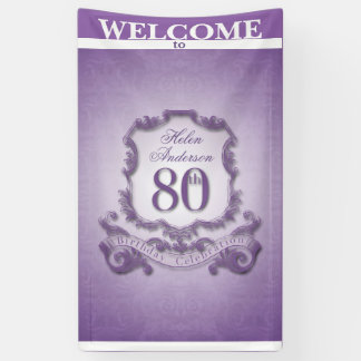 Vintage frame 80th Birthday celebration Banner