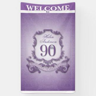 Vintage frame 90th Birthday celebration Banner
