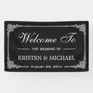 Vintage Frame Chalkboard Wedding Shower Party Banner