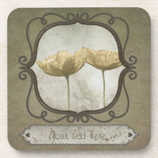 Vintage Frame Poppies Coaster