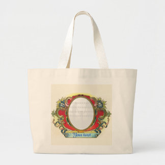 Vintage frame - Red Blue - Add photo text Bags