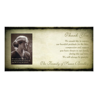 Vintage Frame Sympathy Thank You Photo H Card Photo Card Template